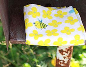 織品設計-二重紗手巾/ Textile design -bee